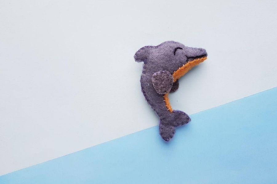 DIY Felt Dolphin With Free Template