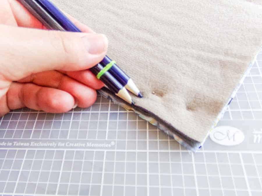 colored pencil hem hack