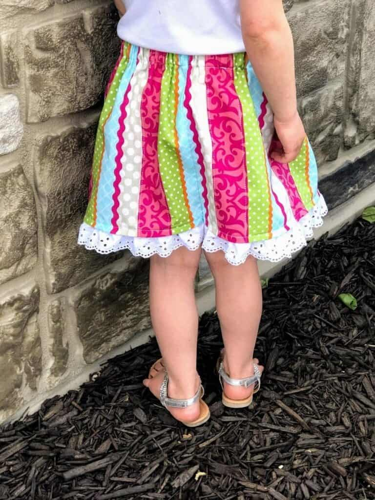 homemade skirt for girls