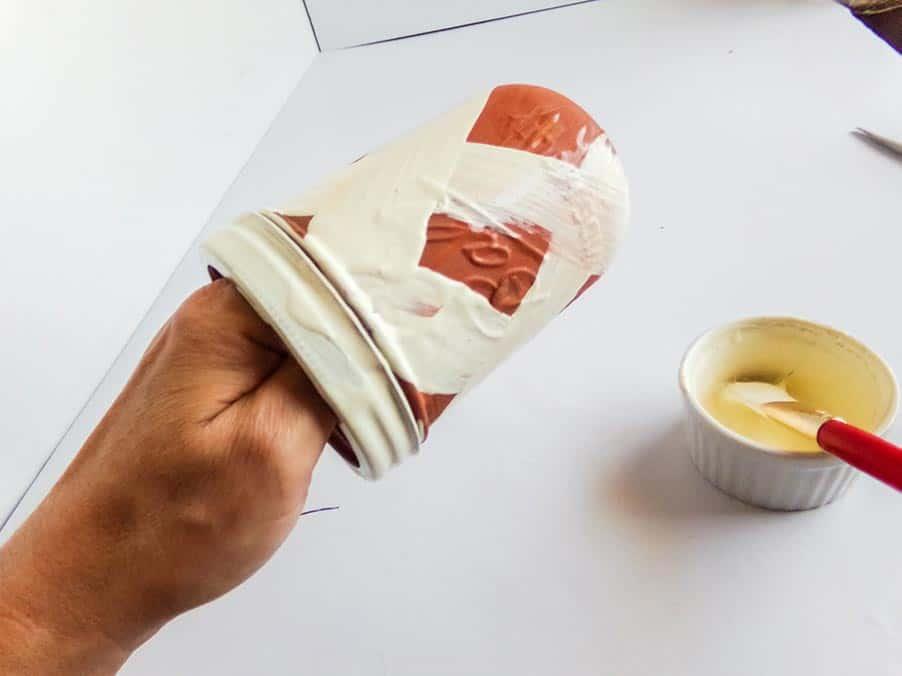 painting mummy jar