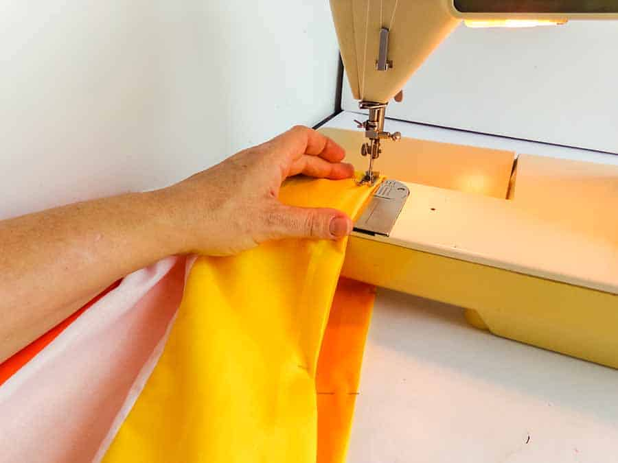 sewing tops together