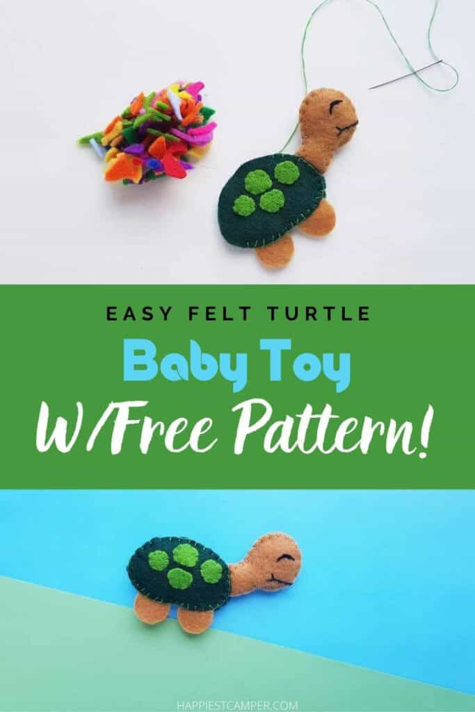 Easy Felt Turtle Toy With Free Pattern