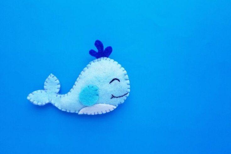 whale made of felt