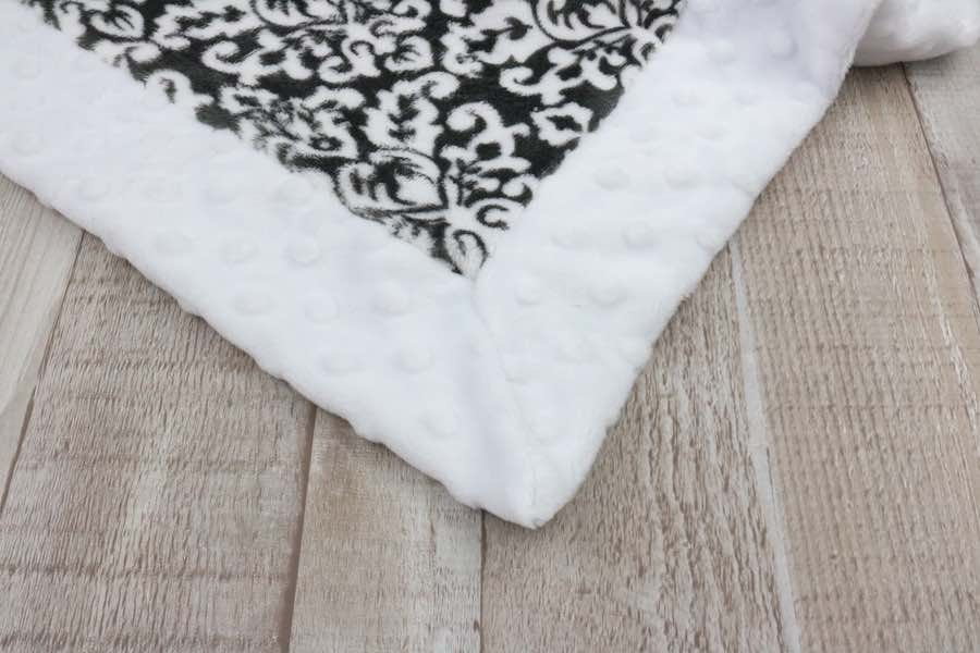 Push those corners out on the Minky Baby Blanket