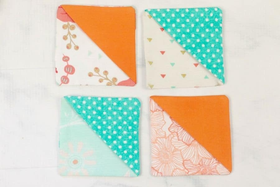 4 different bookmark fabrics and patterns