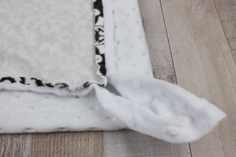 You should have strange-looking corners on your Minky Baby Blanket