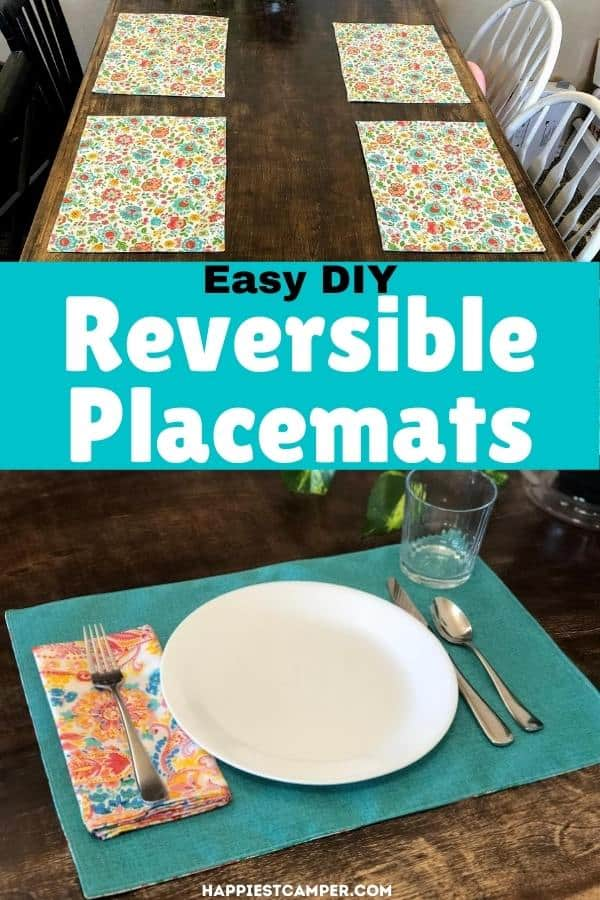 DIY Reversible Placemats Sewing Tutorial