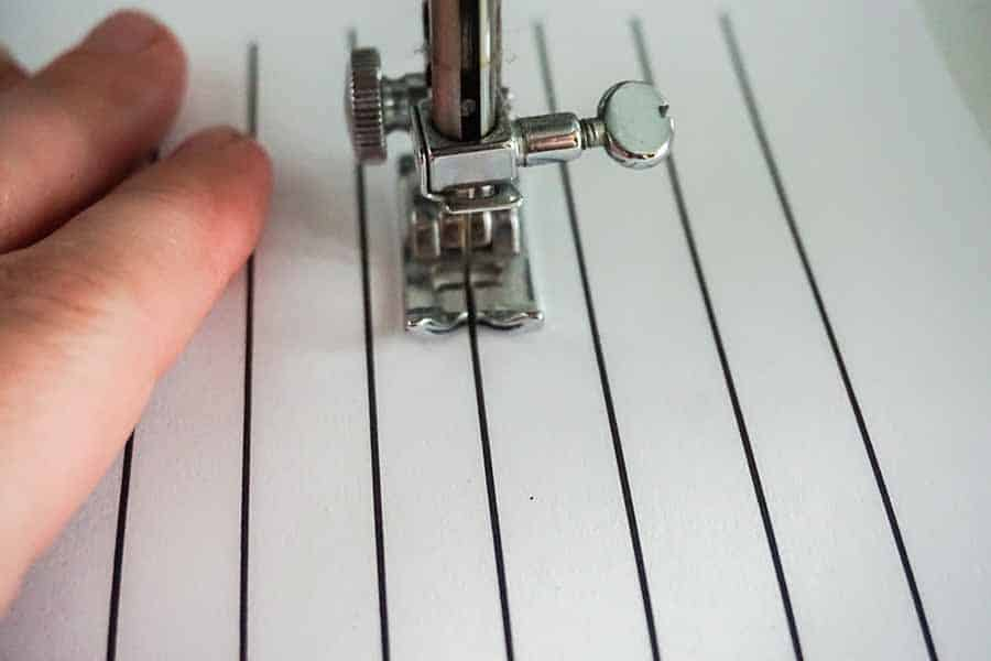 sewing straight lines