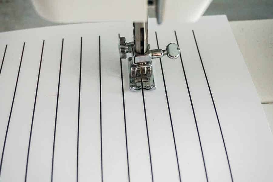 sewing straight practice