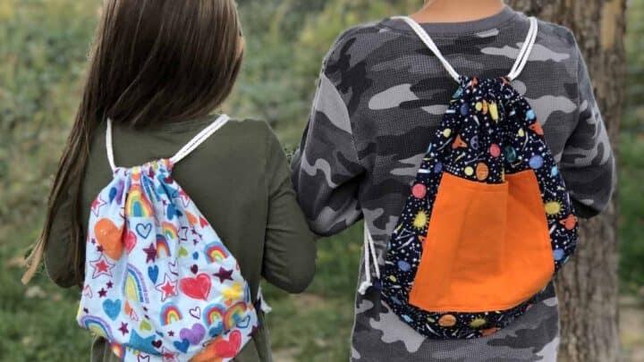 Diy Drawstring Backpack With Pocket