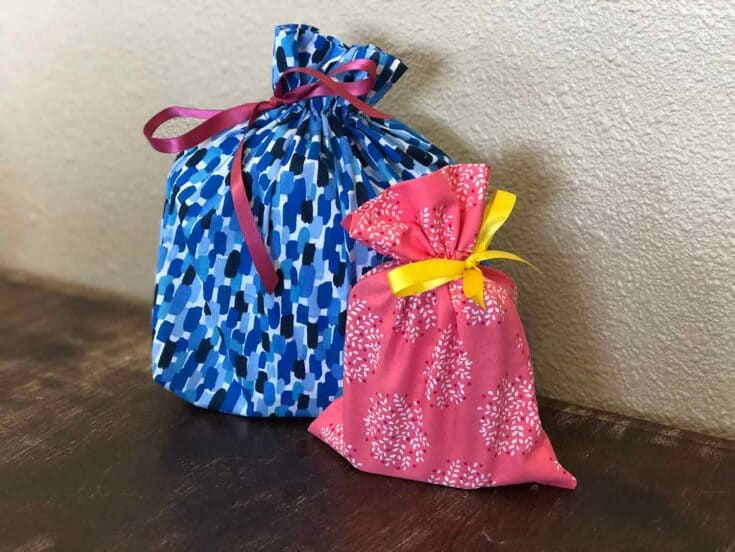 Easy Sew Drawstring Gift Bags Create Card