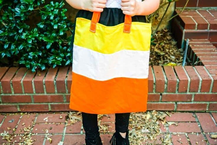 Easy Sew Halloween Candy Corn Tote Create Card