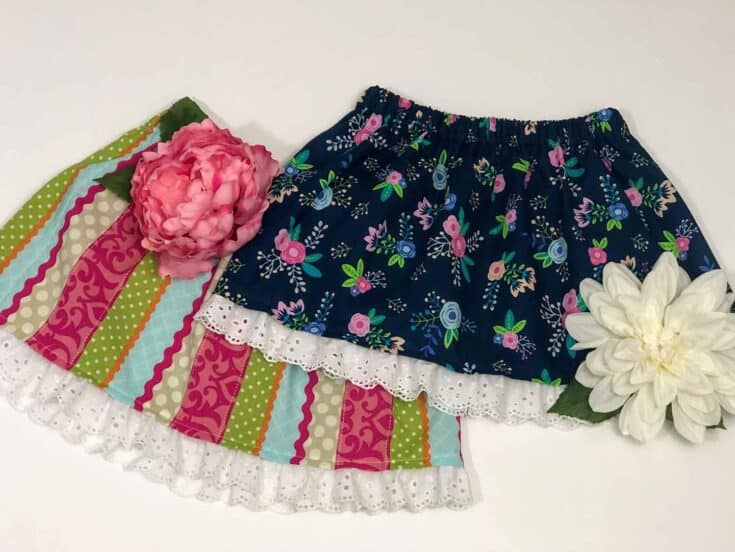 How To Sew A Skirt With Elastic Waistband For Girls Create Card