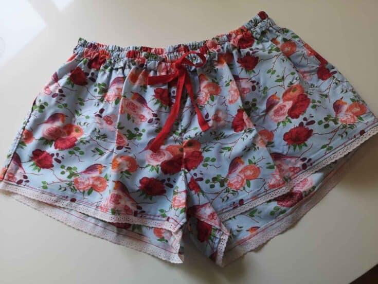 How To Sew Women's Sleep Shorts Create Card