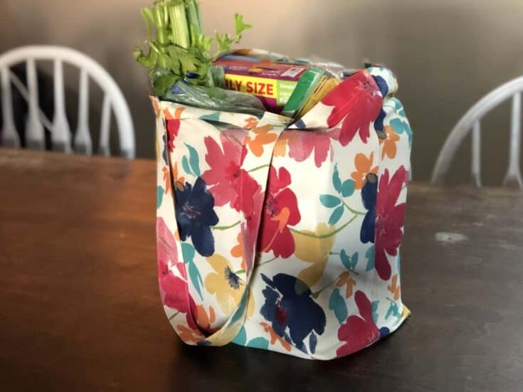 Reusable foldable Grocery bag completed