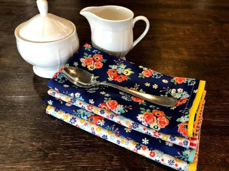 Sew Handmade Cloth Napkins Create Card