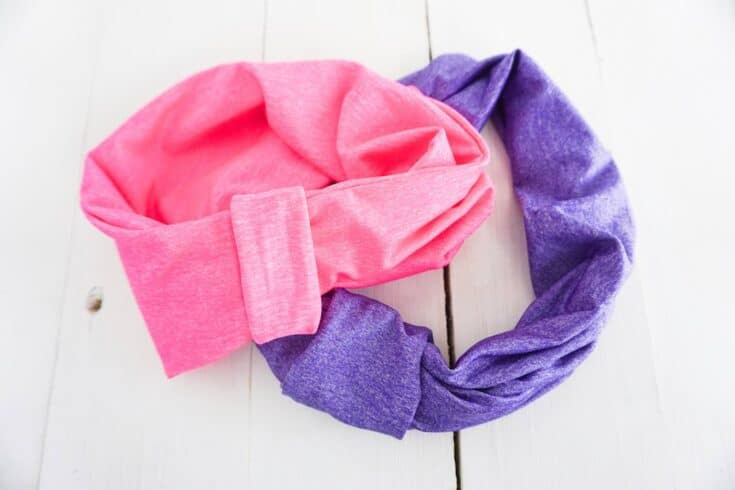 T shirt Headband Completed