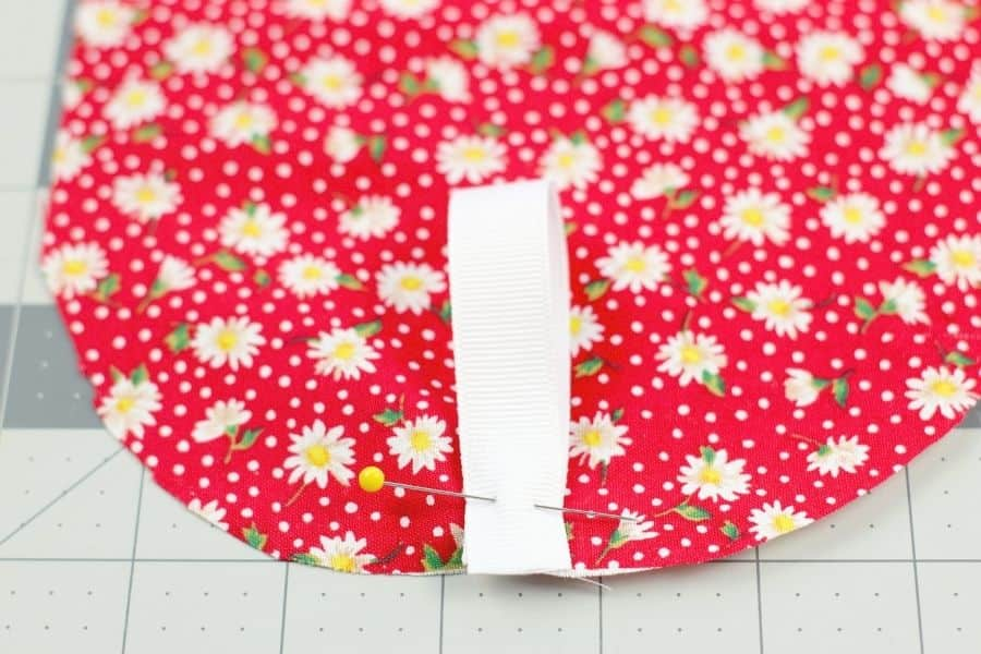 sewing on ribbon