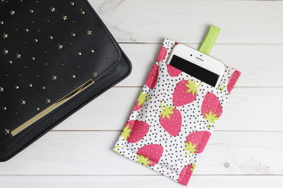 sewn phone case holder