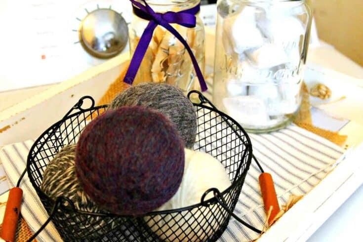 wool dryer ball create card
