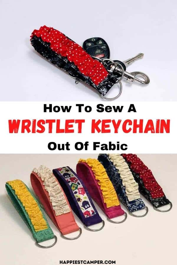 How to Sew a Wristlet Keychain out of Fabric