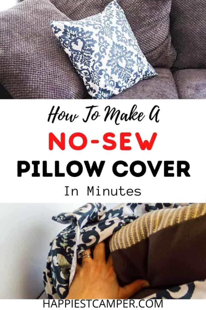 How To Make A No Sew Pillow Cover In Minutes