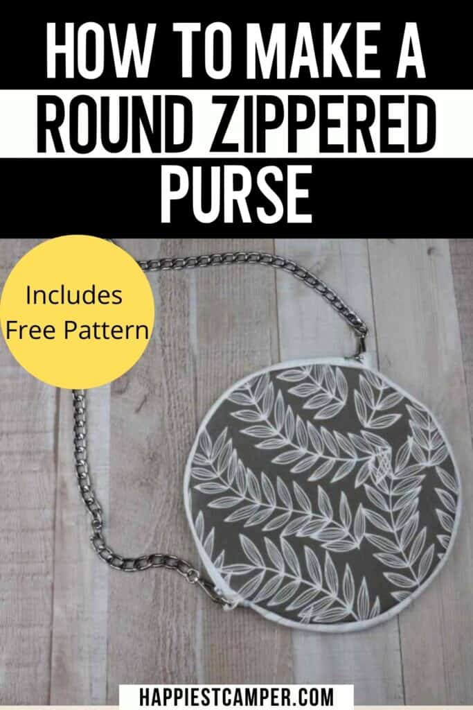 How To Make A Round Zippered Purse