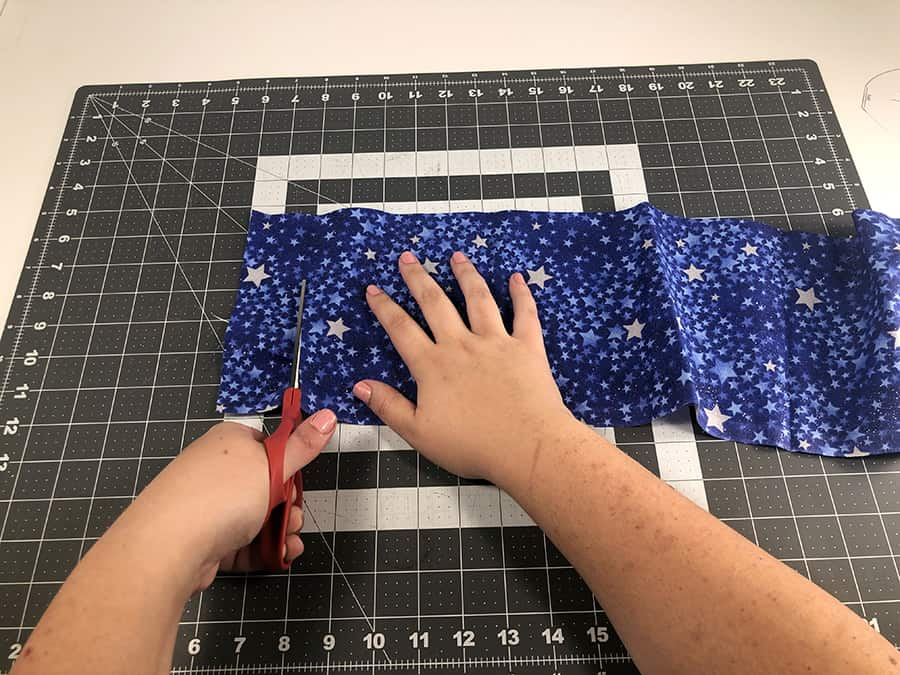 cut pattern pieces for tooth pouch