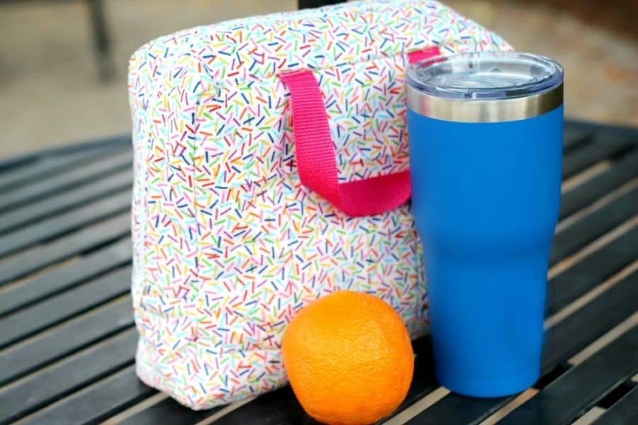 finished insulated lunch box