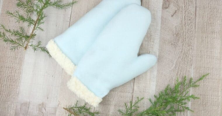 How to Make Warm Mittens with Free Pattern