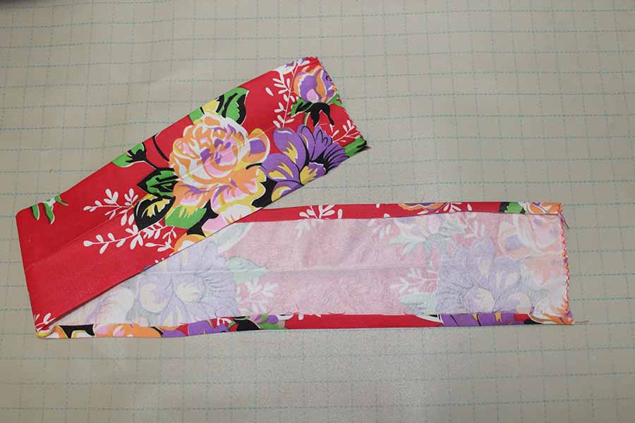 iron interfacing to waistband for pleated skirt