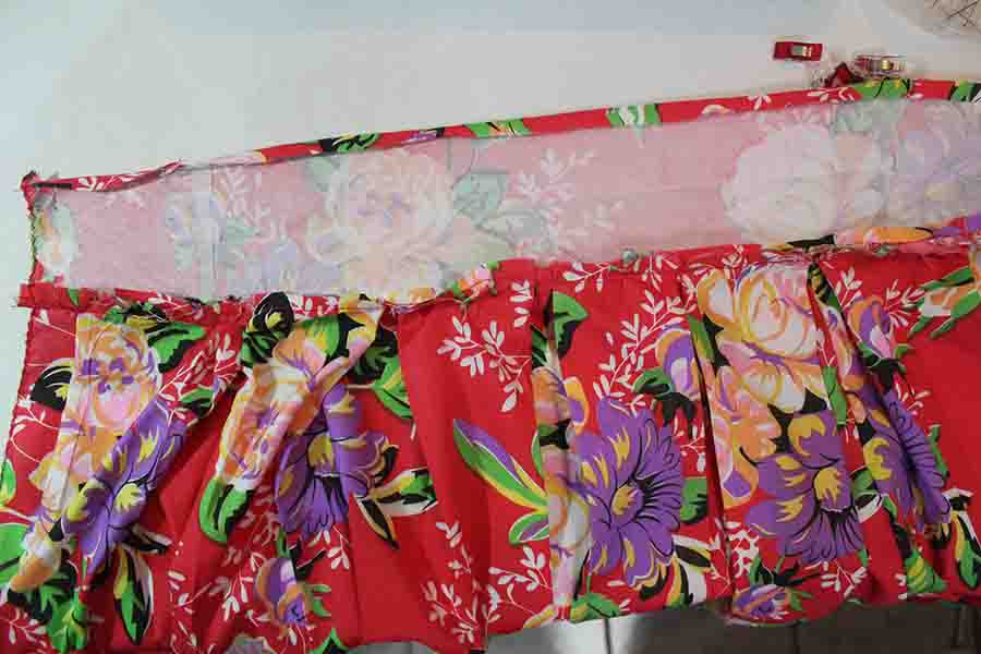 making the waistband for pleated skirt