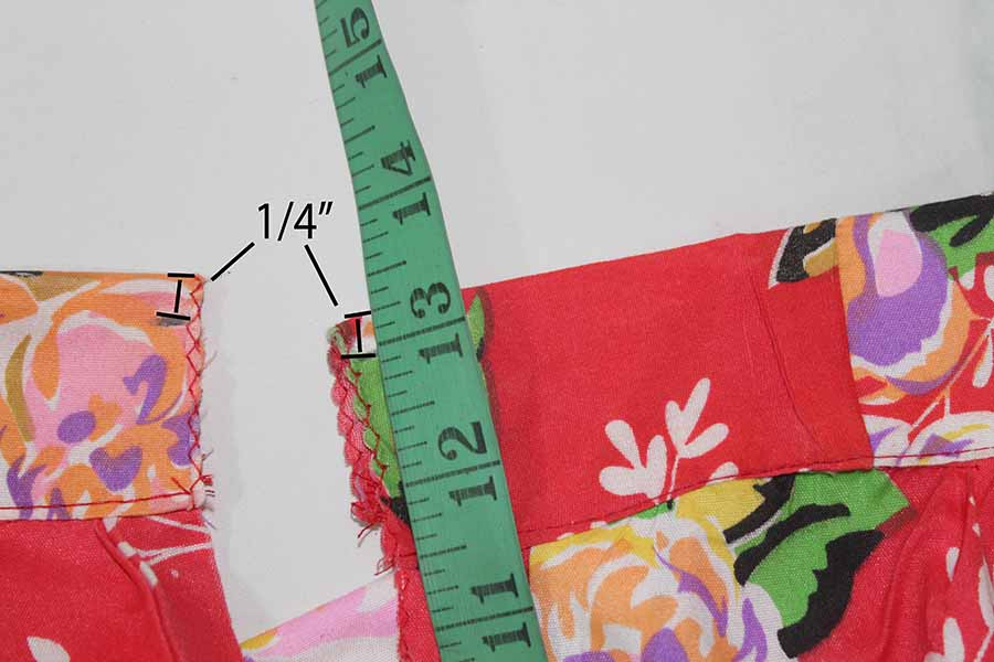measure where to place zipper