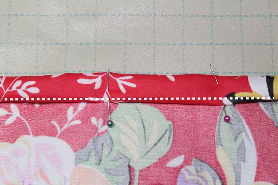 pinning hem for pleated skirt