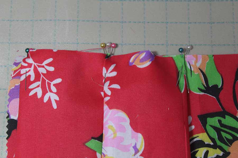 pinning fabric for pleats
