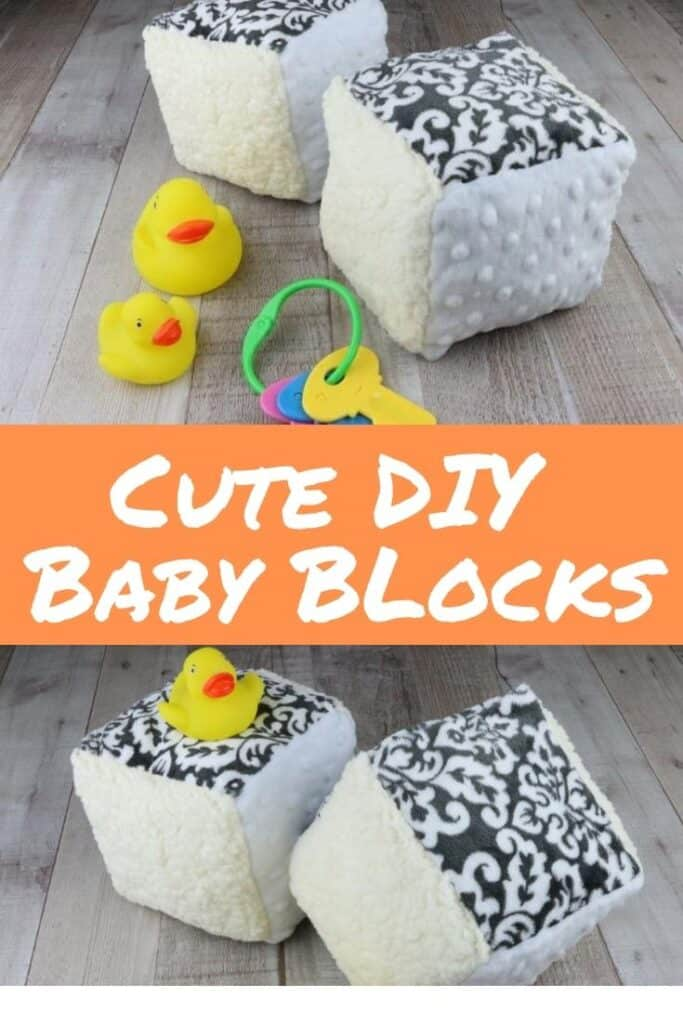 Easy Sew Baby Blocks From Fabric