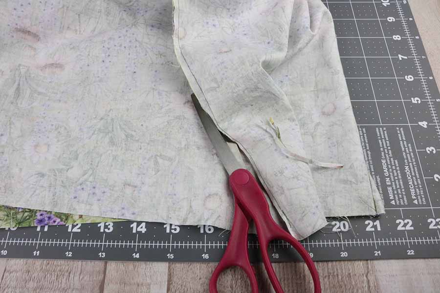 cut out fabric for KitchenAid stand mixer cover