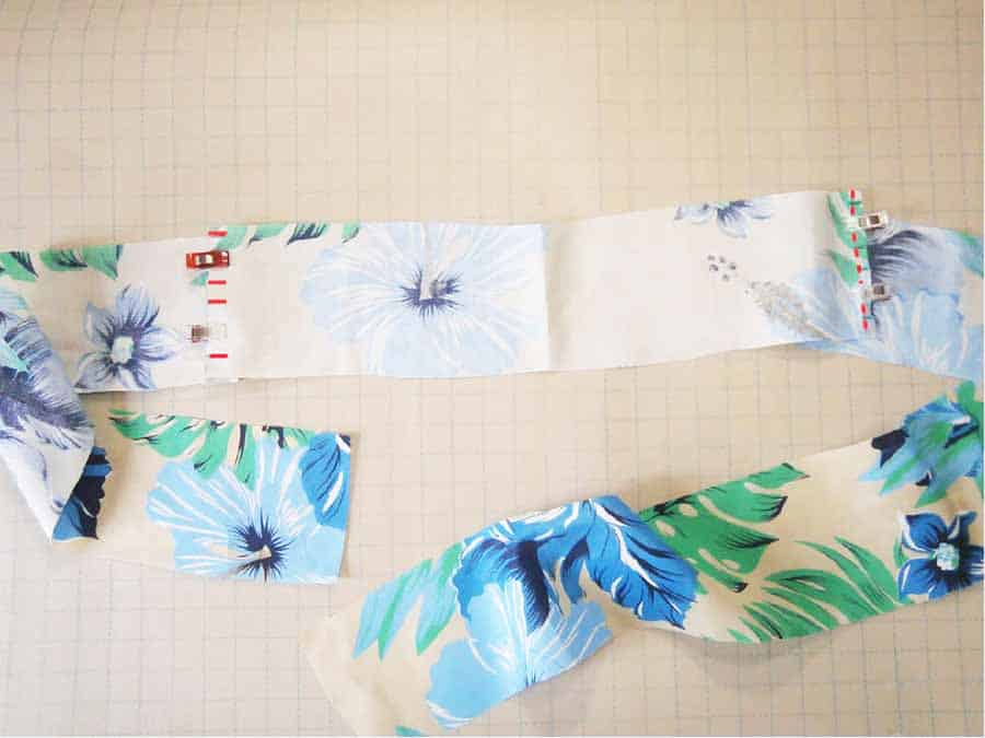 making the waistband for wrap skirt