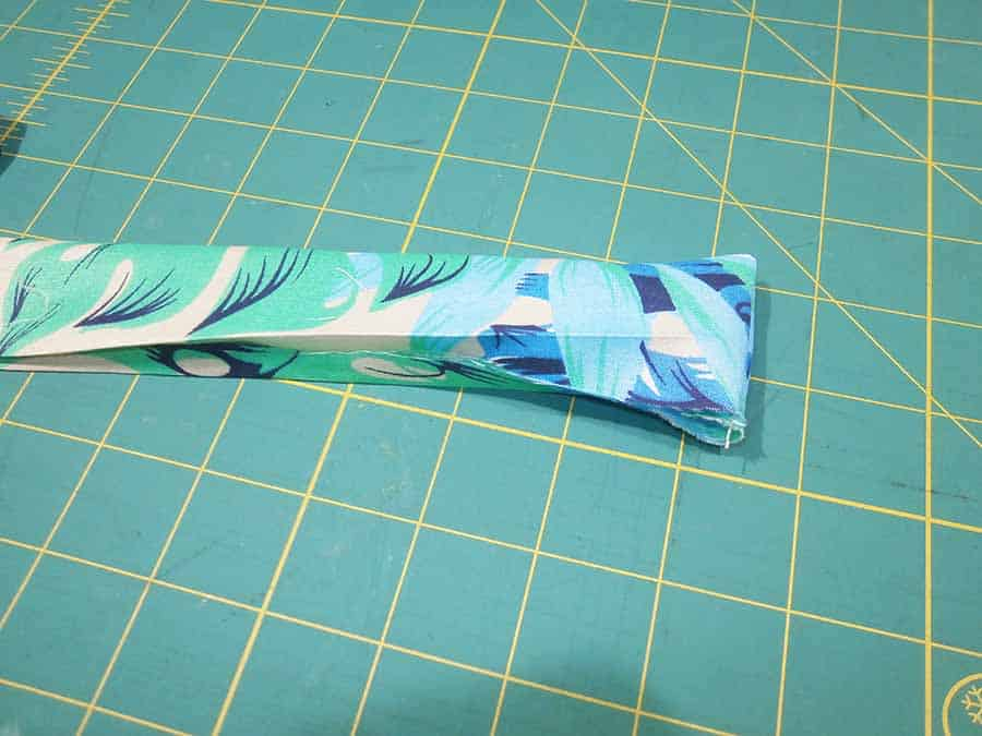turning waistband ends inside out