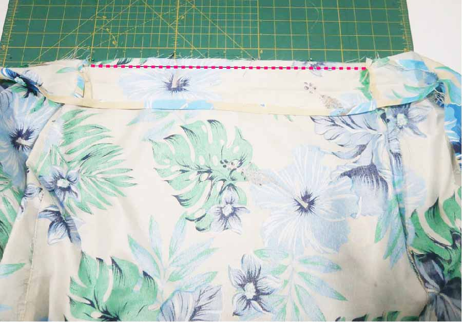 attaching waistband to wrap skirt