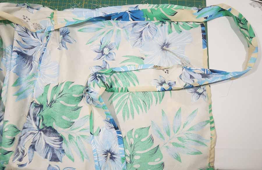 pin waistband to skirt