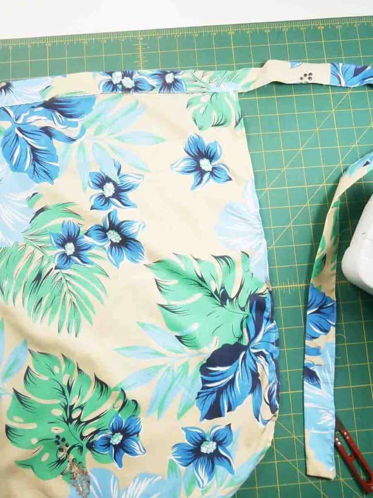 fold waistband over skirt and sew