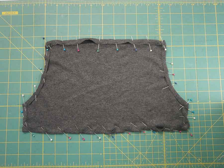 making front pocket for hoodie
