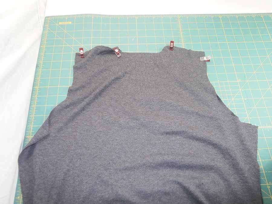 sewing shoulder seams for hoodie