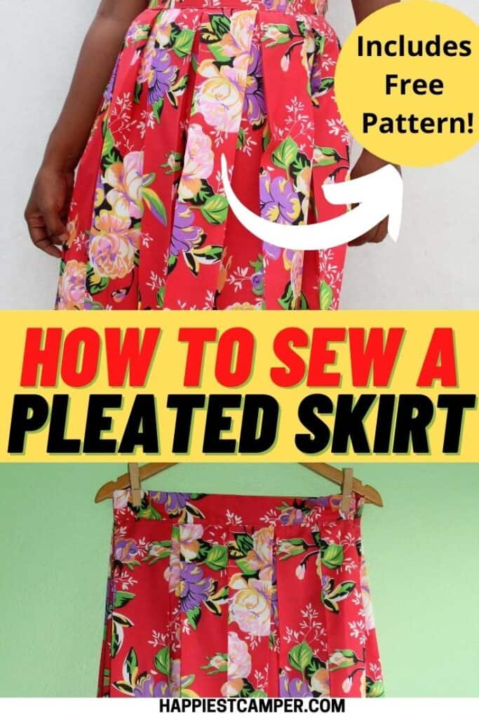 How To Make A Pleated Skirt with free pattern!