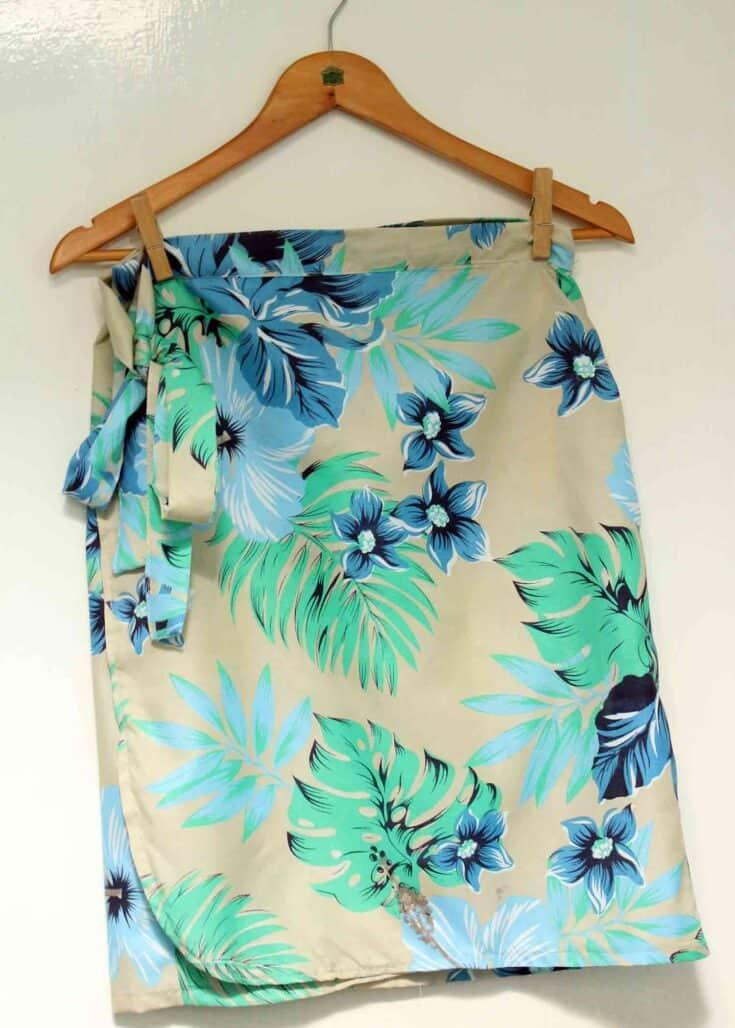 Wrap skirt create card