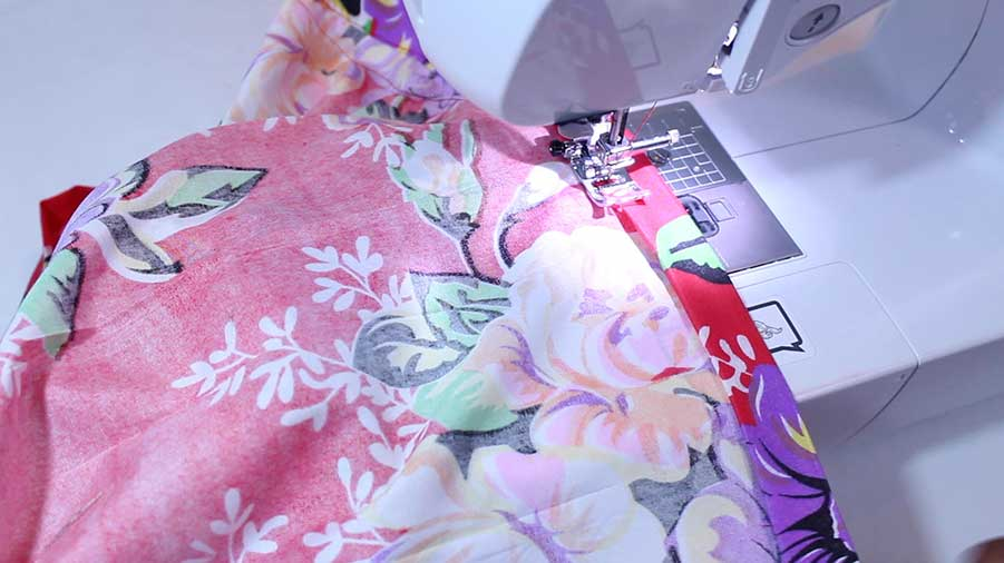 sewing hem for pleated skirt