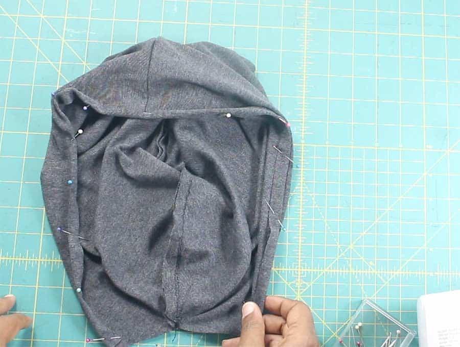hemming hood for hoodie