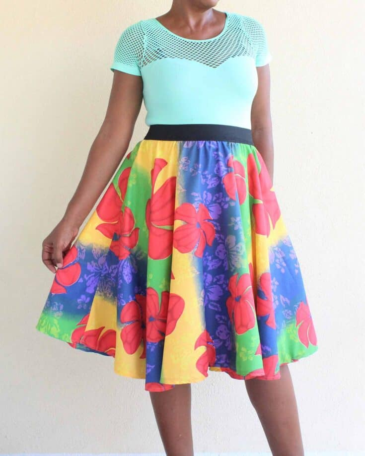 How To Sew A Circle Skirt Create Card
