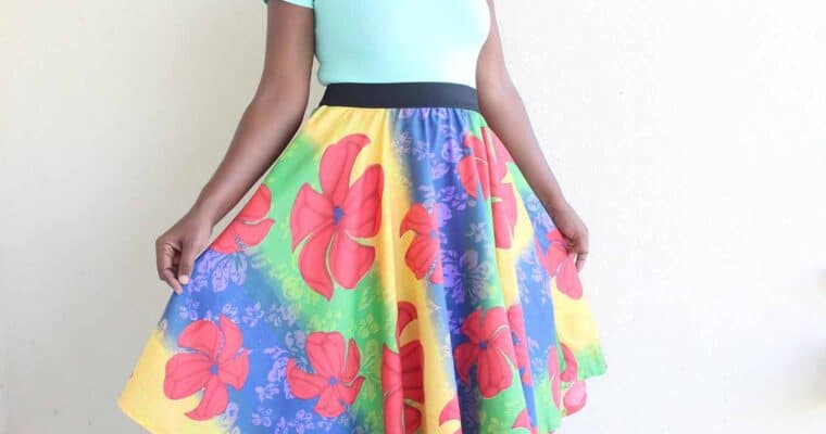 How To Sew A Circle Skirt With Free Printable Pattern